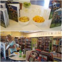 Böckerna om Eddie firades med bubbel och snacks på Lindängenbiblioteket!