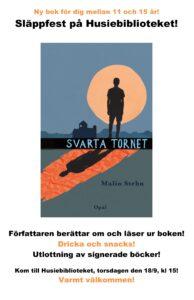 Torsdagen den 18/9 är det Svarta tornet-kalas på Husiebibblan i Malmö. Kom dit vetja!